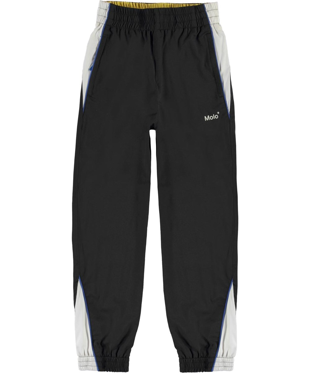 Anomi - Black - Black trackpants with white details