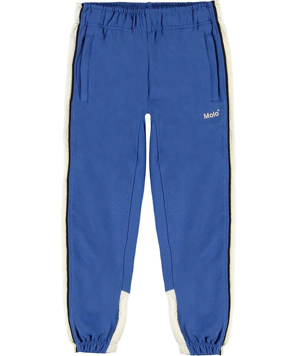 Anoua - Cobalt - Blue and white organic sweatpants