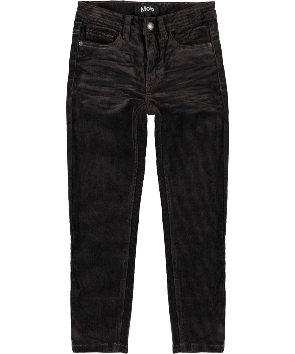 Anton - Brown Darkness - Brown corduroy trousers
