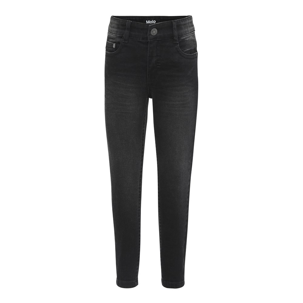 Anton - Washed Black - Black washed denim jeans.