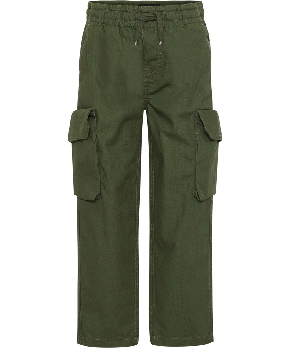 Argo - Forest - Green cargo trousers with large pockets