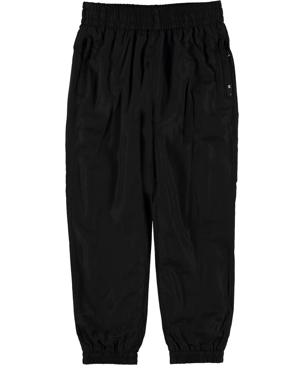 Arne - Black - Track pants black sporty trousers.