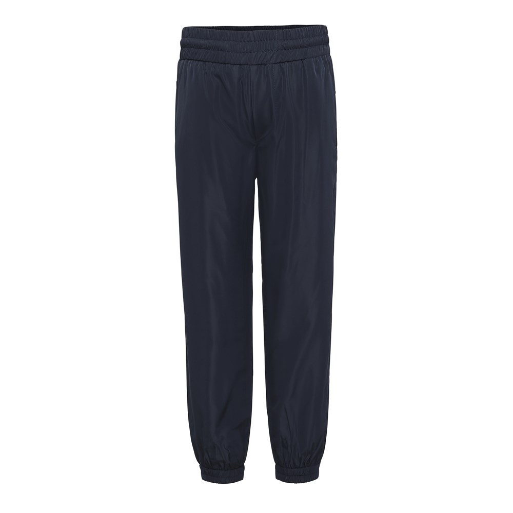 Arne - Dark Navy - Dark blue shiny tracksuit trousers.