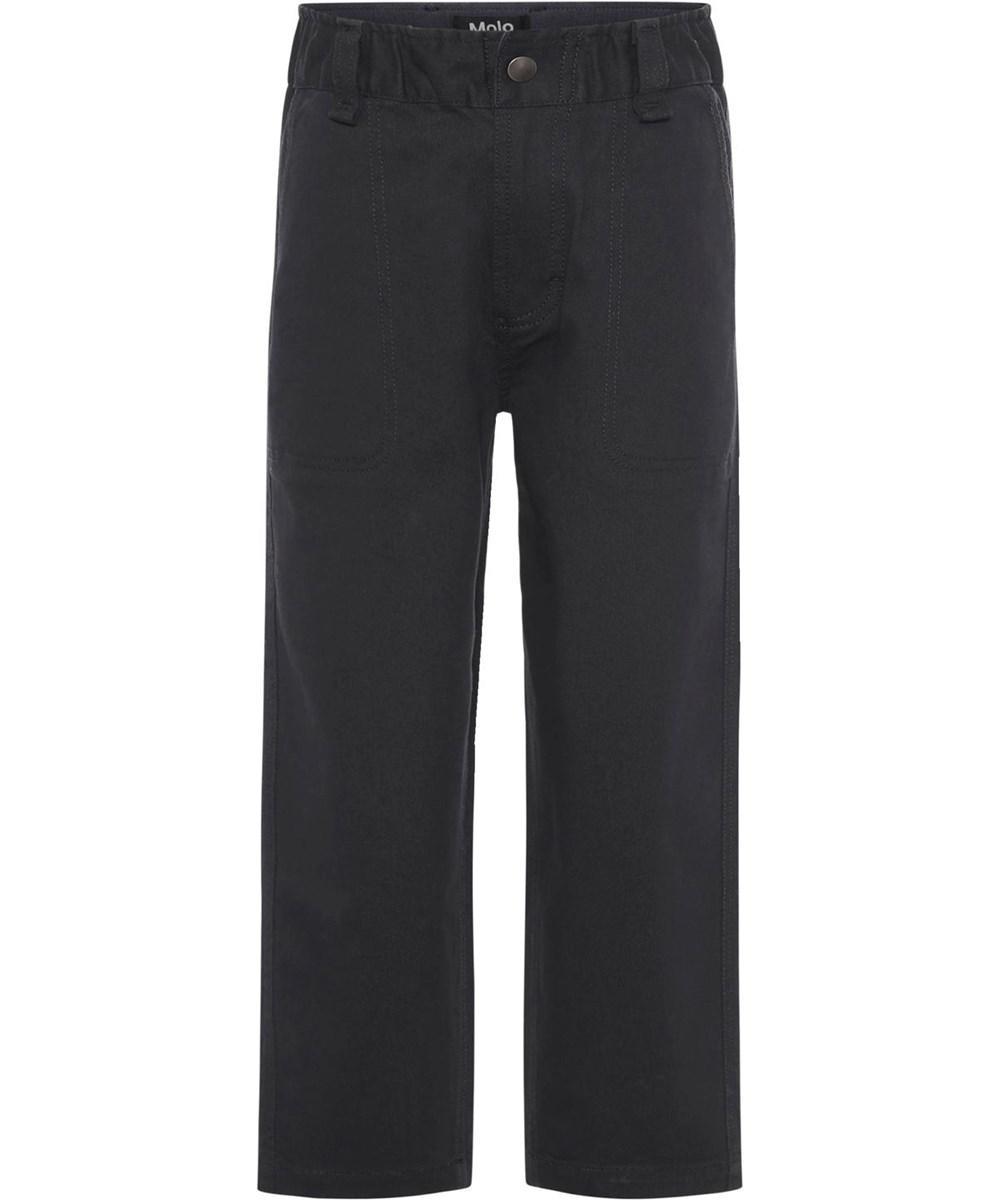 Aron - Black - Sand coloured trousers
