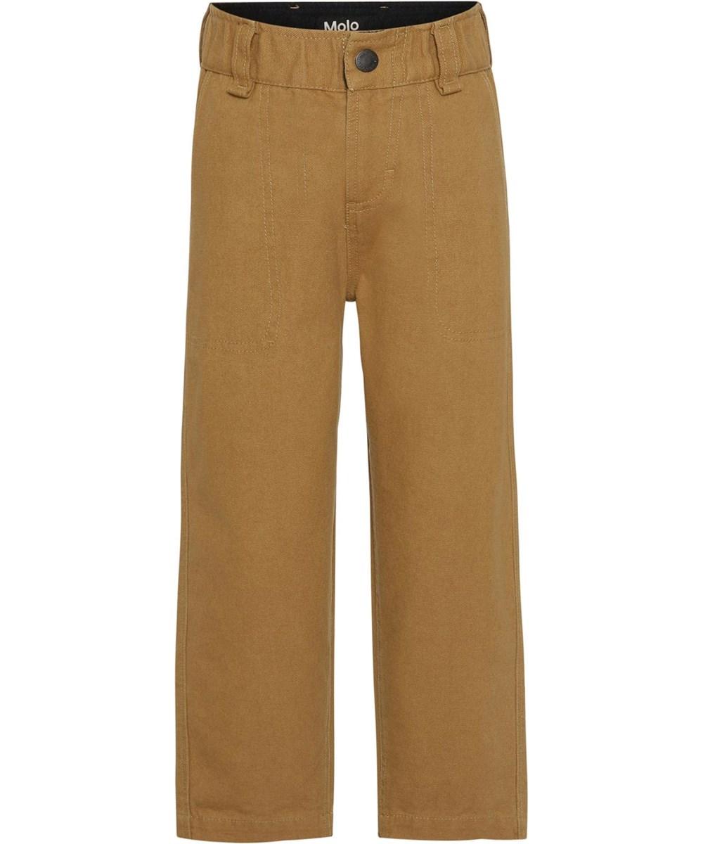 Aron - Sandstone - Sand coloured, full trousers
