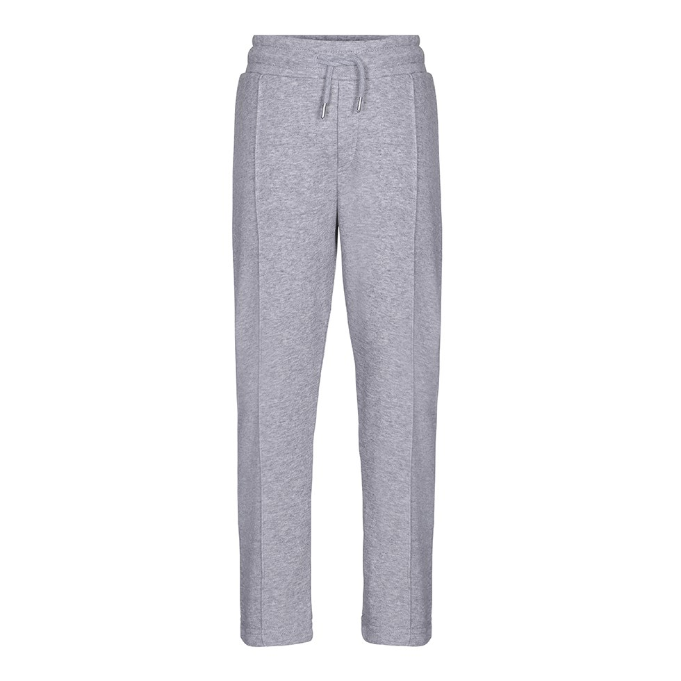 Arwin - Grey Melange - Grey sweatpants with ties