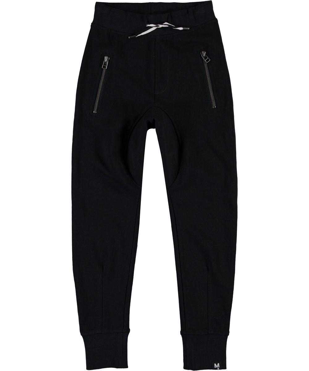 Ashton - Black - Sporty black sweatpants