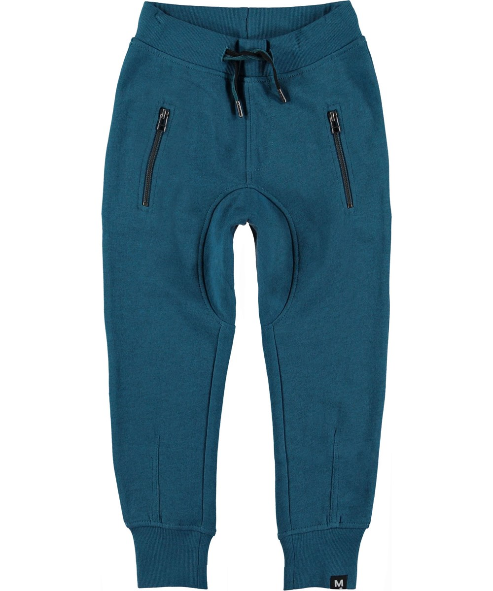 Ashton - Frozen Deep - Sweatpants turquoise sporty trousers.