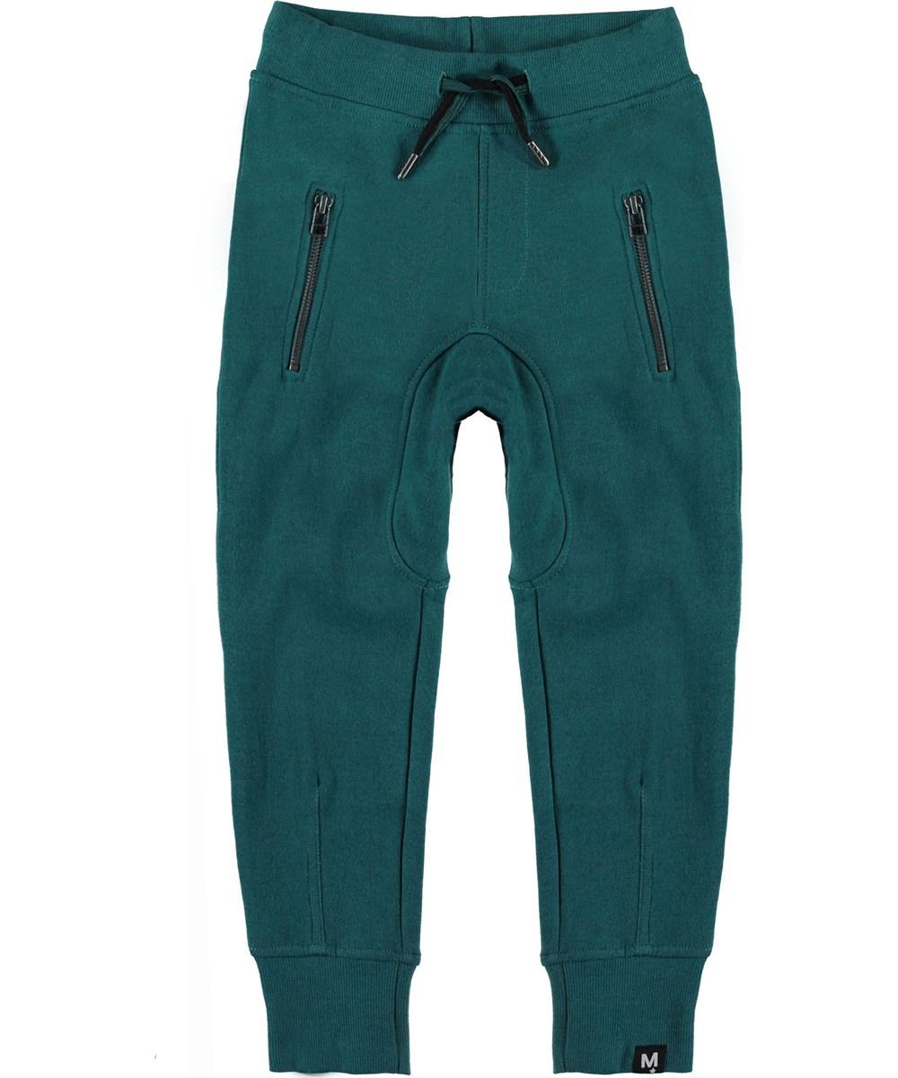 Ashton - Shady Green - Sweatpants green sporty trousers.