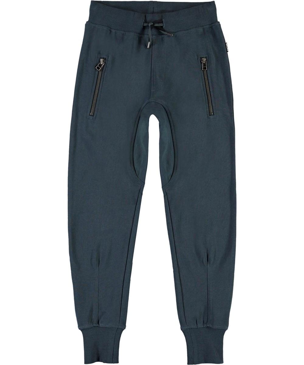 Ashton - Summer Night - Blue, organic sporty sweatpants