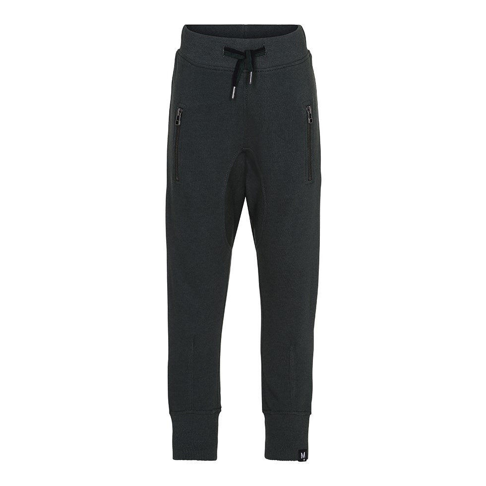 Ashton - Deep Forest - Dark green sweatpants with striped ties