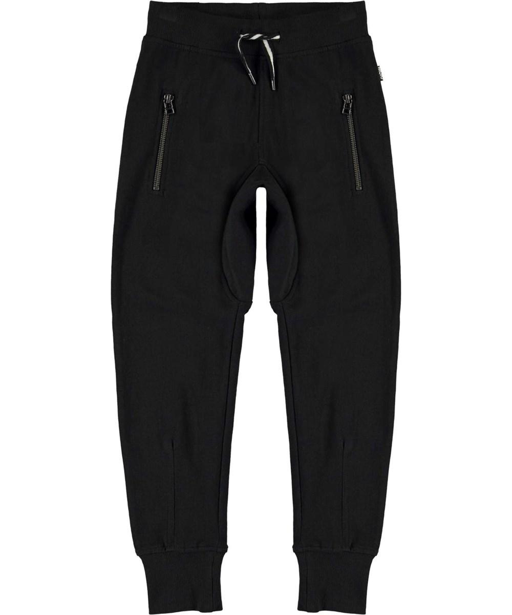 Ashton - Black - Black organic sweatpants