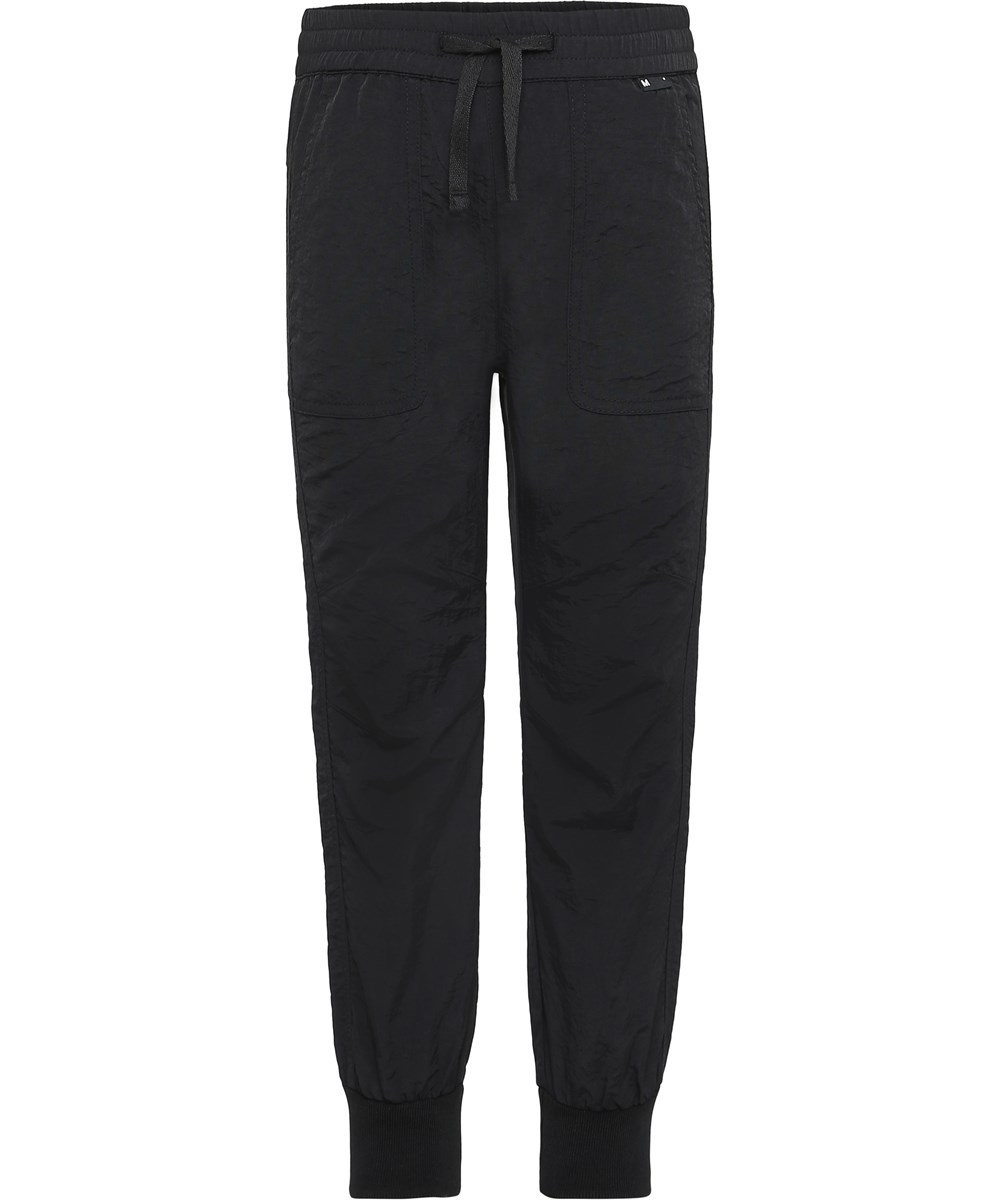 Atlas - Black - Black sporty trousers.