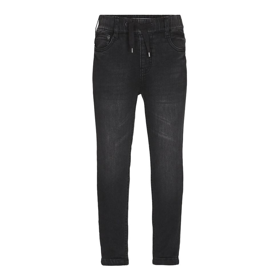 Augustin - Black Blast - Black jogg denim jeans in a washed look