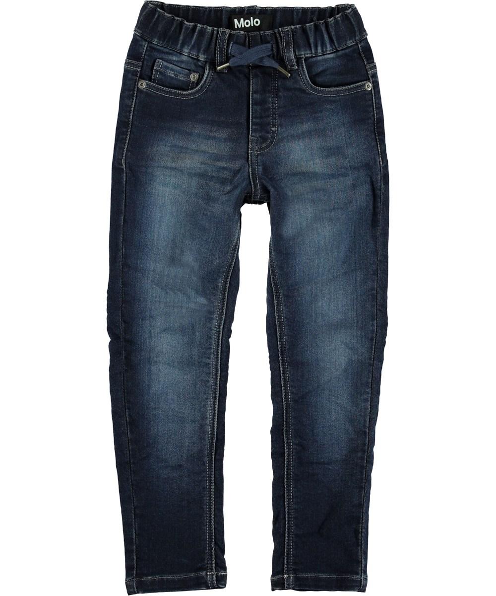 Augustin - Dark Indigo - Dark blue jeans.