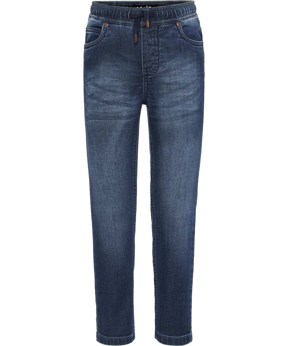 Augustino - Charcoal Blue - Grey washed denim jeans.