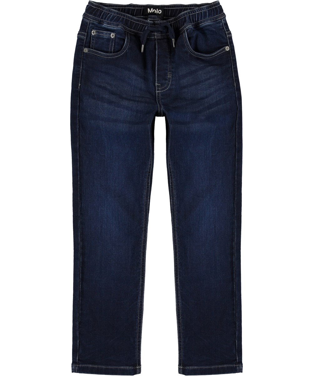 Augustino - Dark Indigo - Dark blue, loose denim jeans
