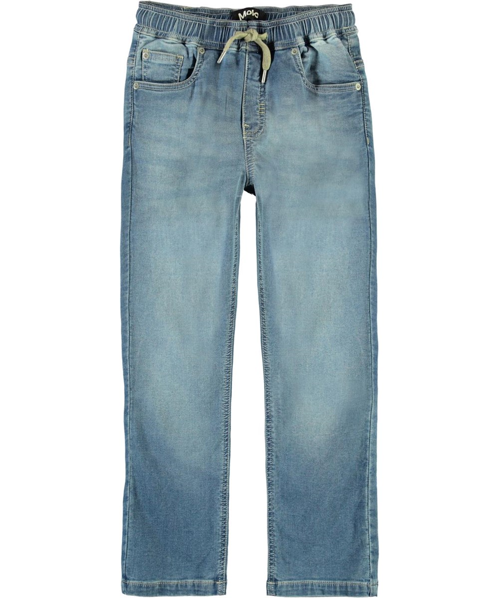 Augustino - Soft Denim Blue - Light blue jeans with ties