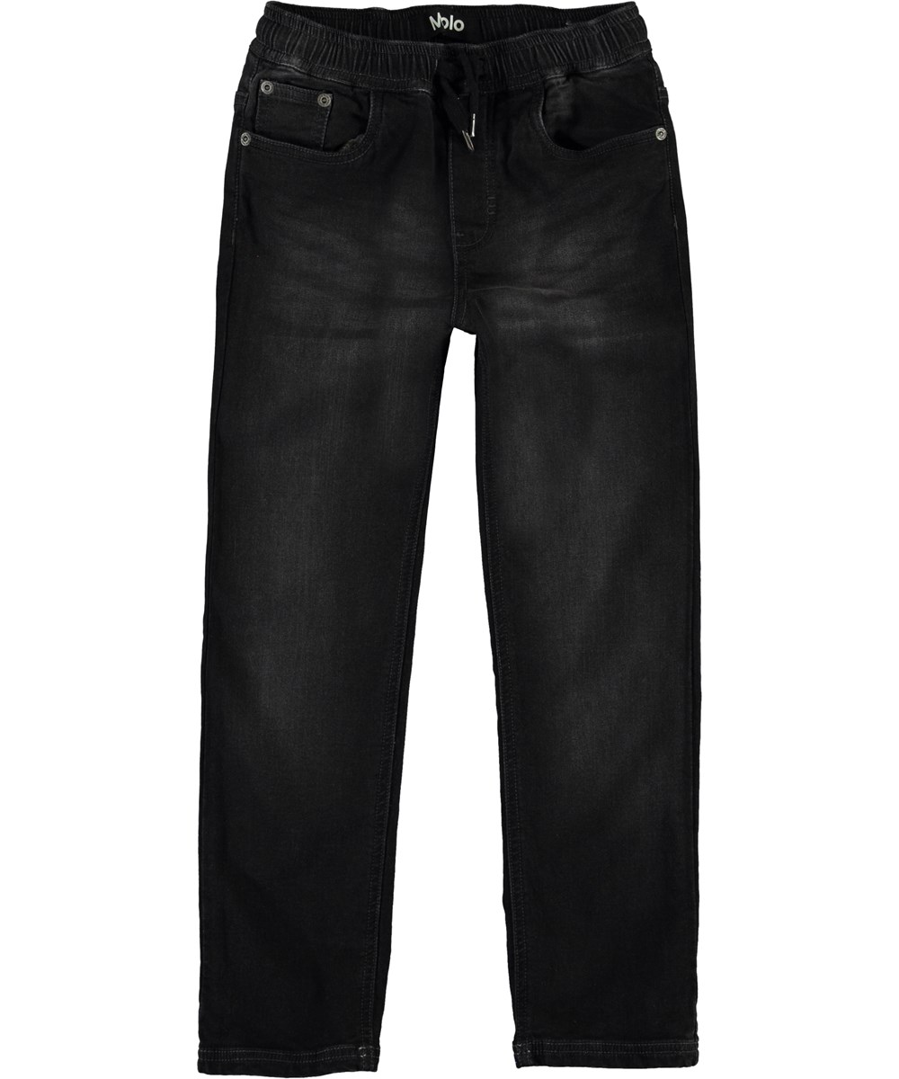 Augustino - Charcoal Denim - Dark grey, loose denim jeans