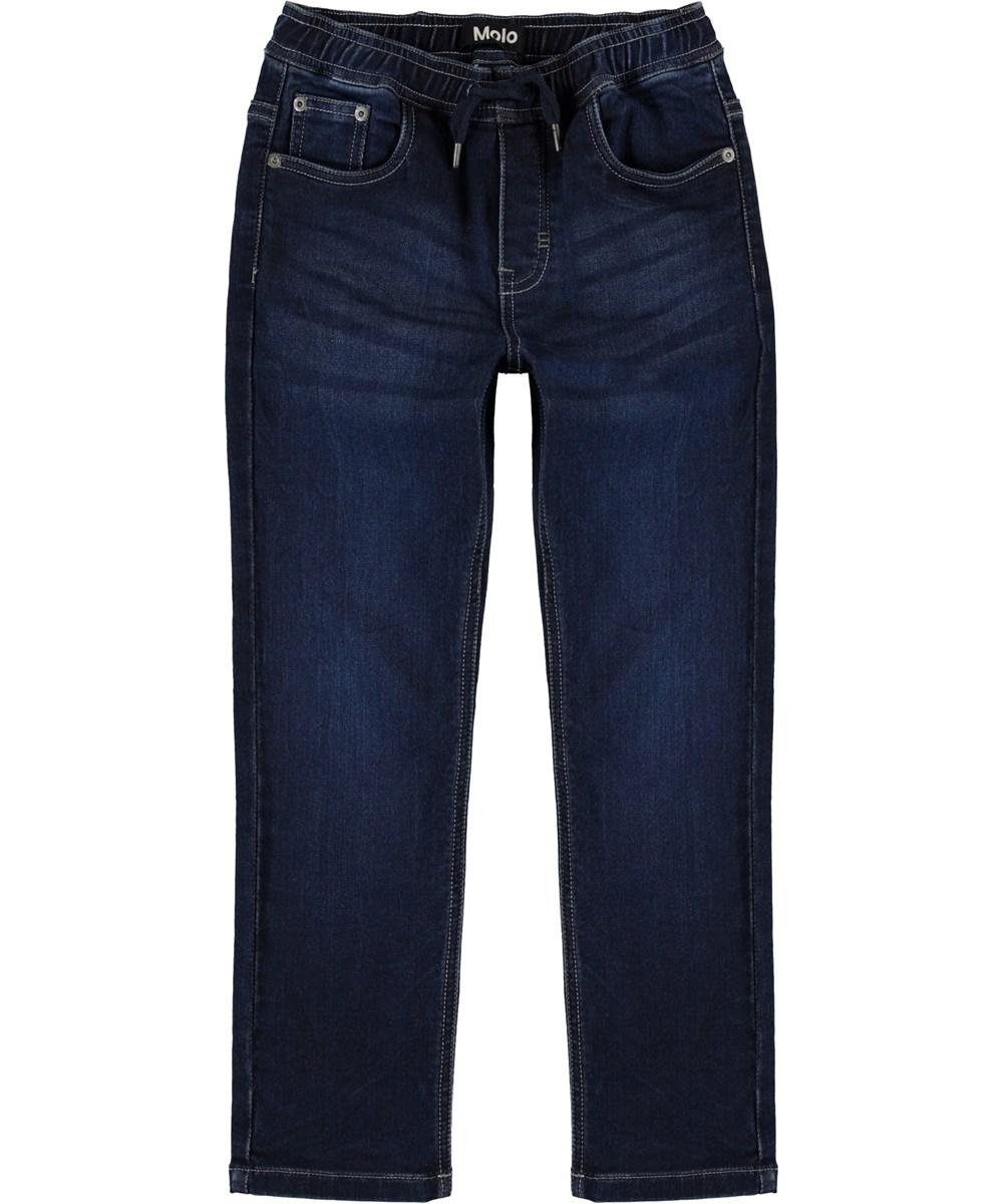 Augustino - Dark Indigo - Dark blue, loose denim jeans