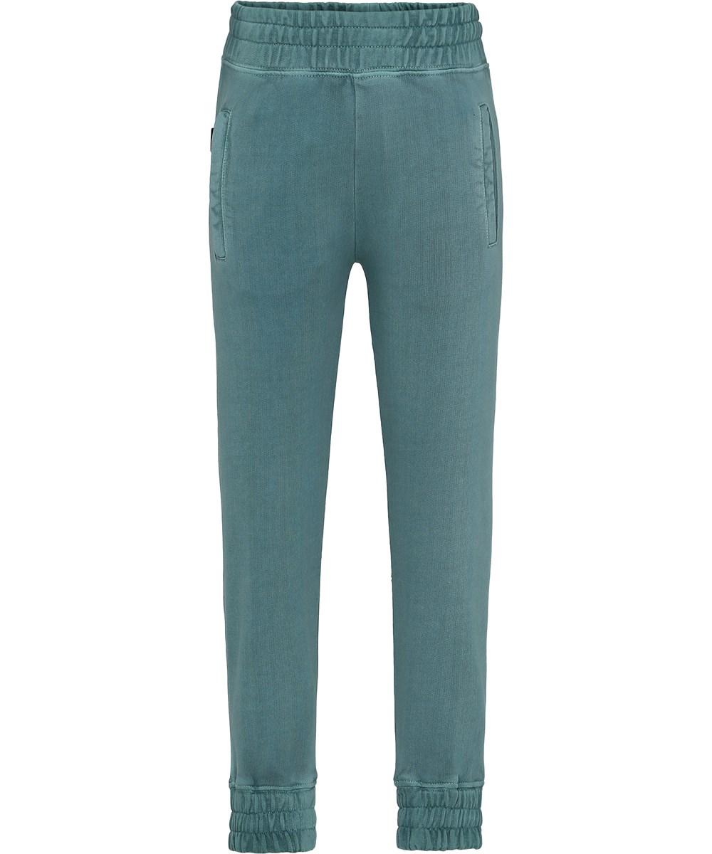 Azoo - Galapagos Green - Green sweatpants in a washed look.