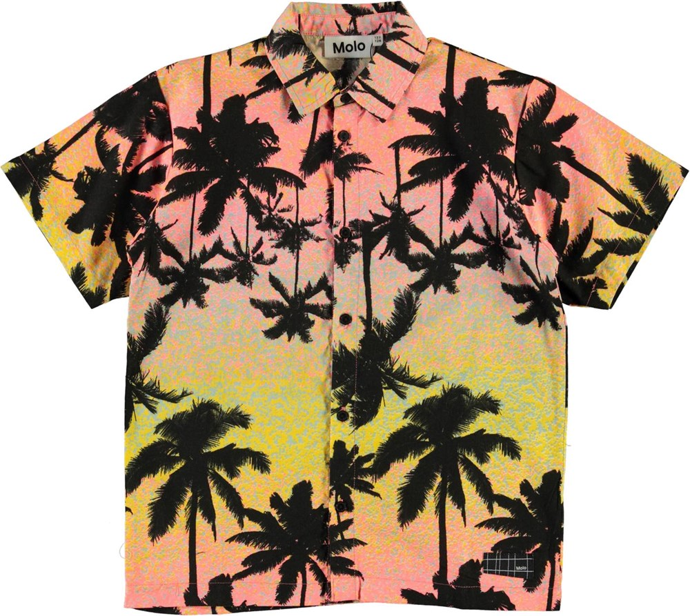 Rass - Sunset Palms - Short sleeve shirt with palm tree print