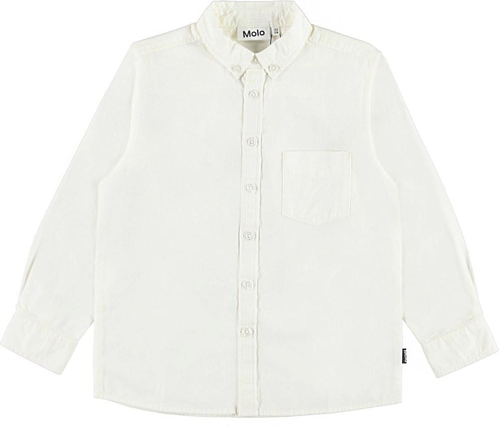 Reex - White Star - Classic white cotton shirt