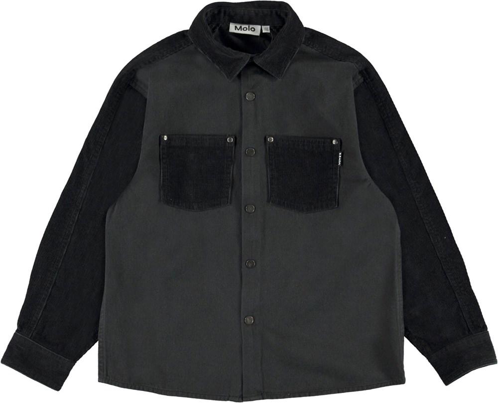 Rhyme - Black - Black shirt with corduroy