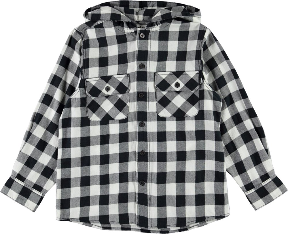 Rizz - Check - Black, white and grey plaid shirt