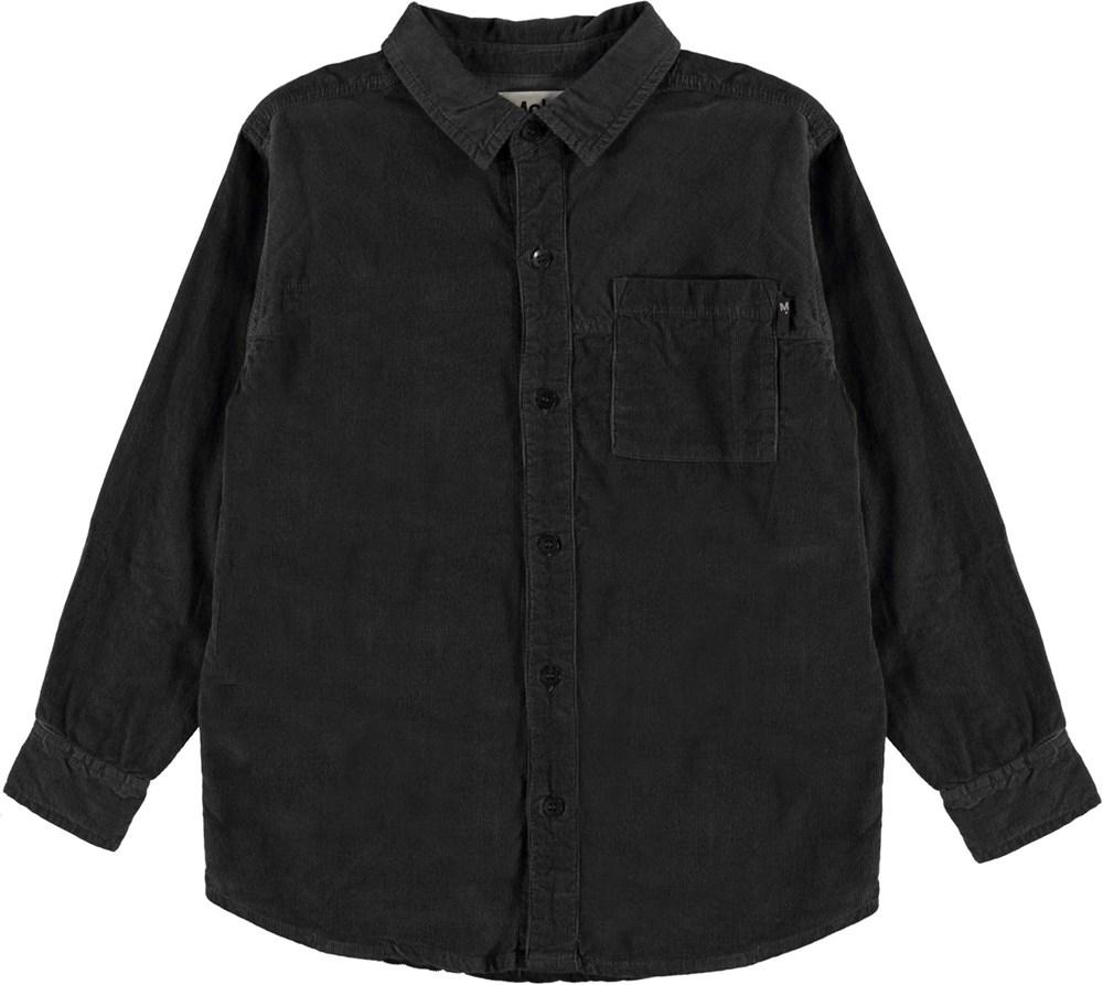 Russy - Night Grey - Dark grey corduroy shirt