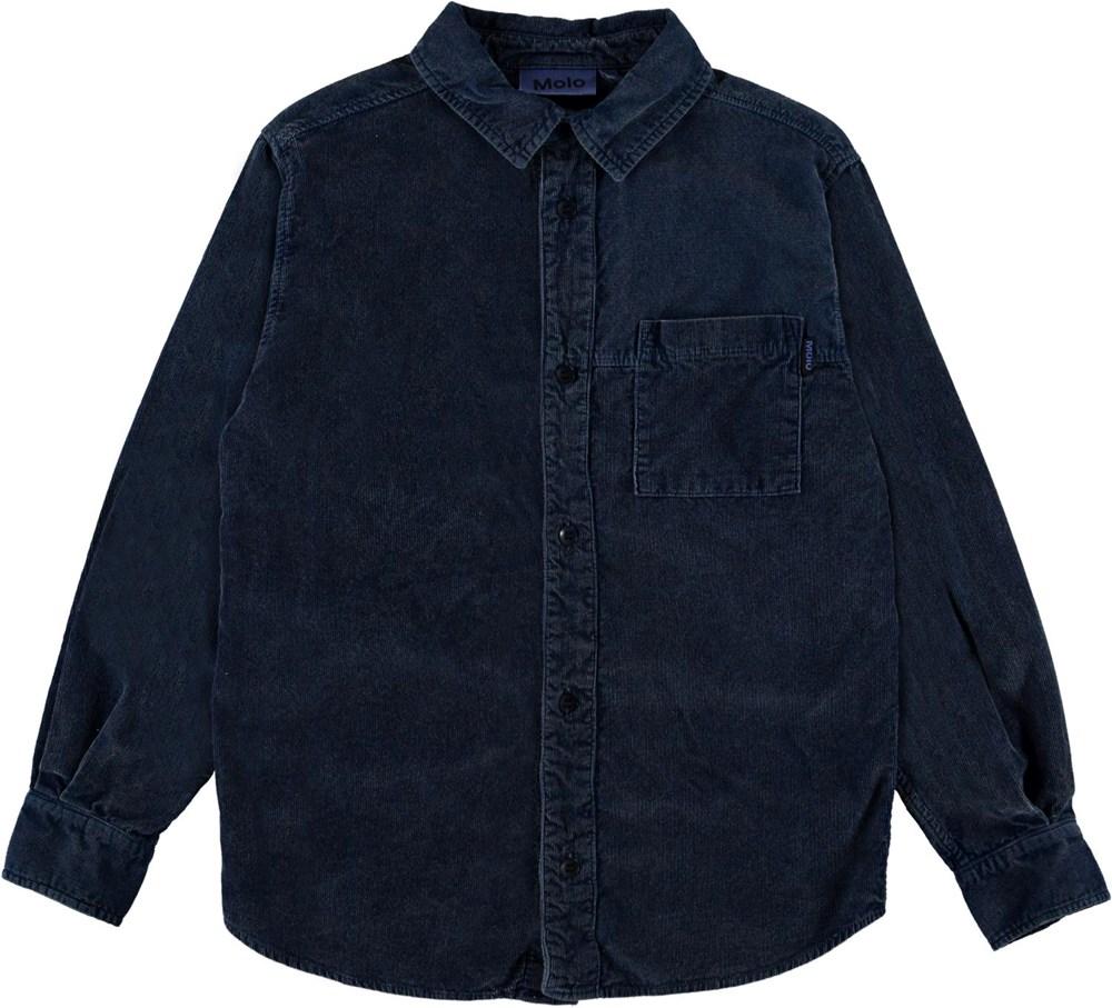 Russy - Sea - Blue corduroy shirt