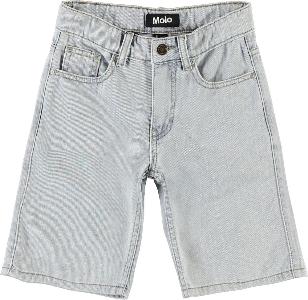 Adrik - Even Pale Wash - Long light blue denim shorts