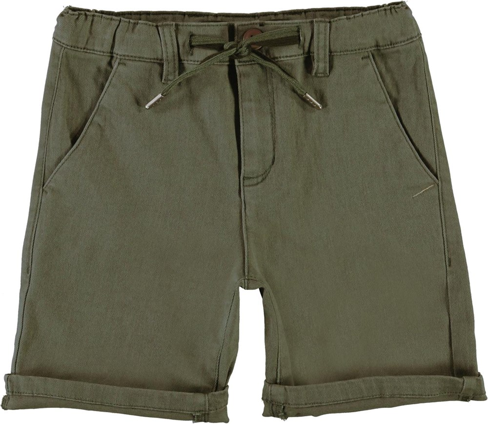 Ajvin - Vegetation - Green chino shorts