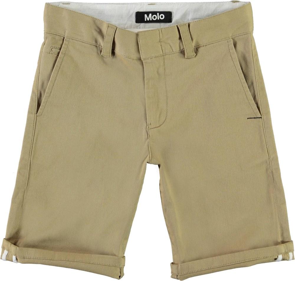 Alan - Gravel - Beige chino shorts