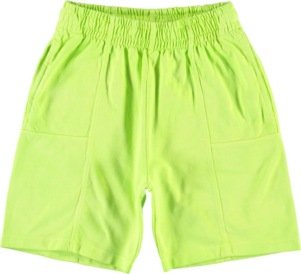 Alden - Neon Yellow - Neon sweat shorts