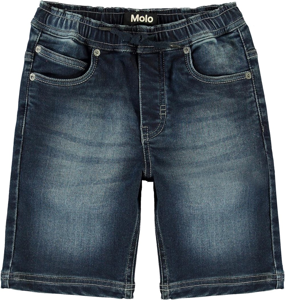 Ali - Dark Indigo - Relaxed denim shorts