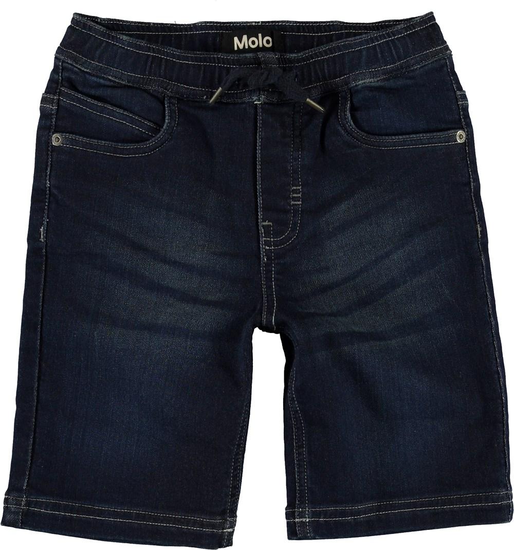Ali - Dark Indigo - Soft, blue denim shorts