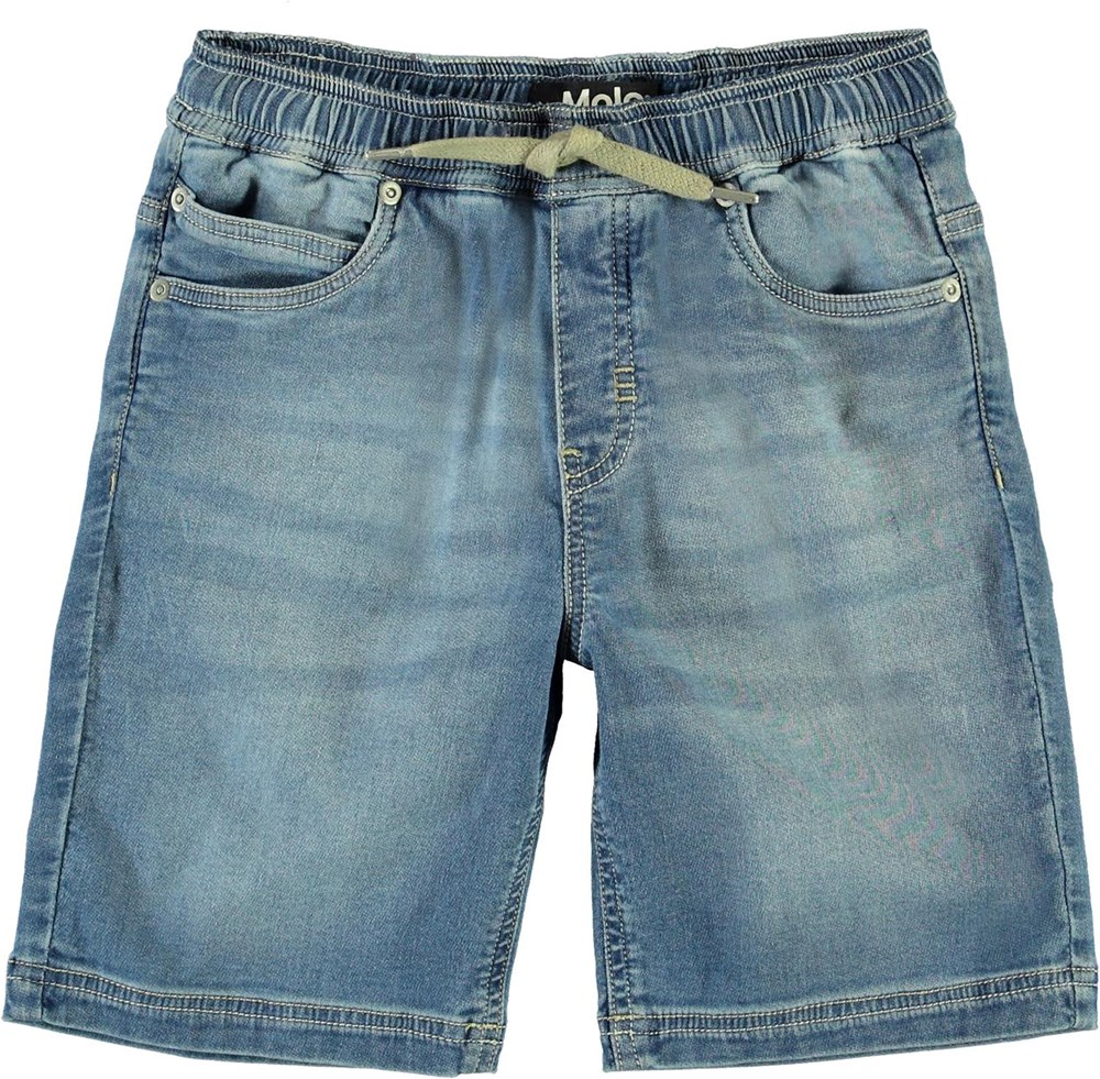 Ali - Soft Denim Blue - Relaxed denim shorts