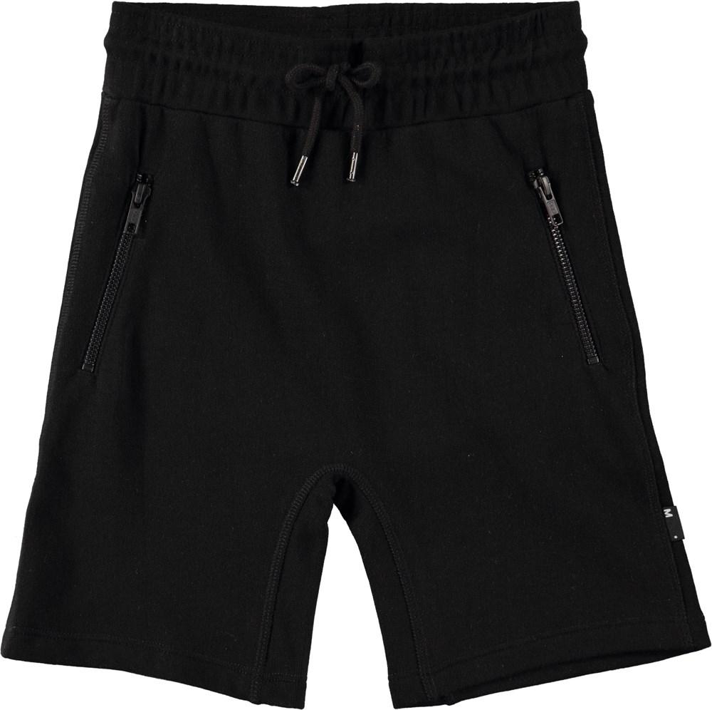 Alias - Black - Black sweatshorts with elastic waist