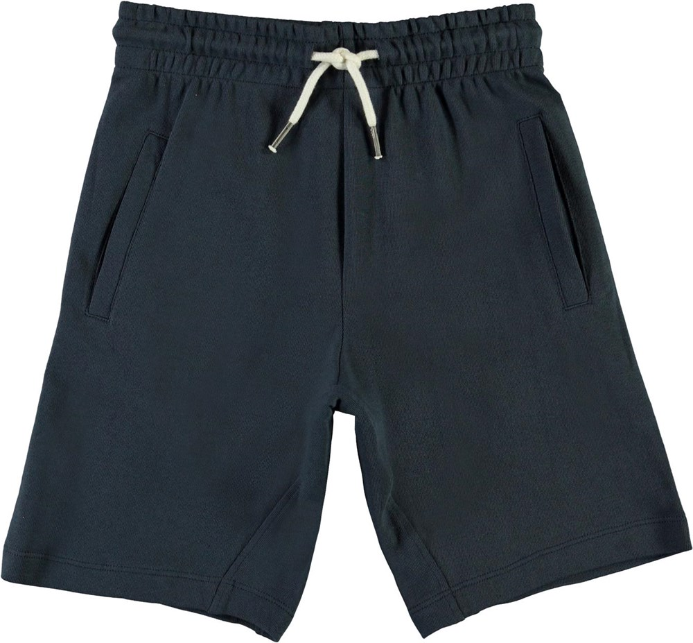 Aliases - Summer Night - Blue organic sweatshorts