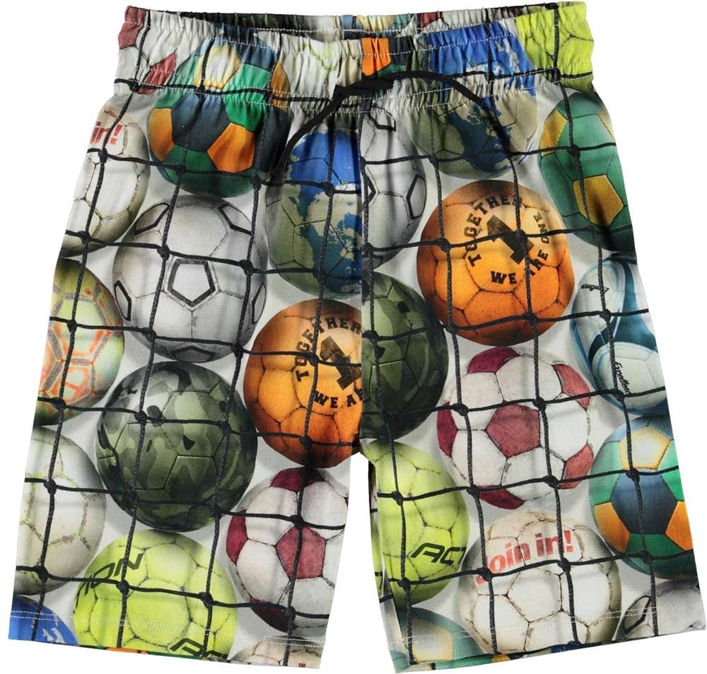 Alim - Footballs - Organic shorts with football print