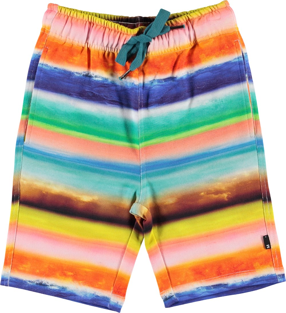 Allwin - Sunset Stripe - Sweat shorts with coloured stripes
