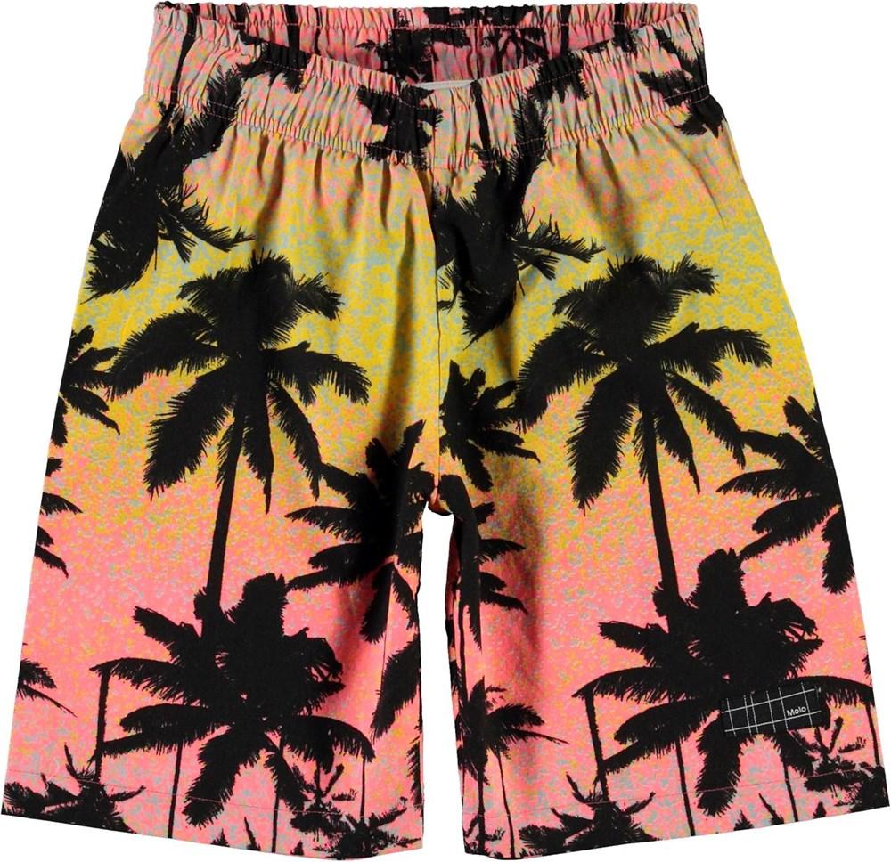 Alvaro - Sunset Palms - Shorts with palm tree print