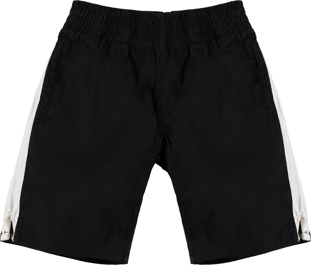 Anchor - Black - Black shorts with white stripe