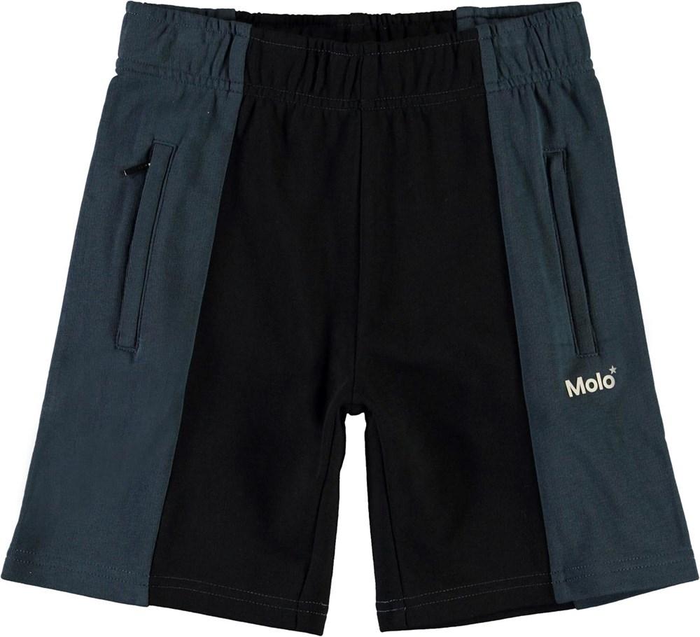 Aques - Summer Night - Blue and black organic sweatshorts