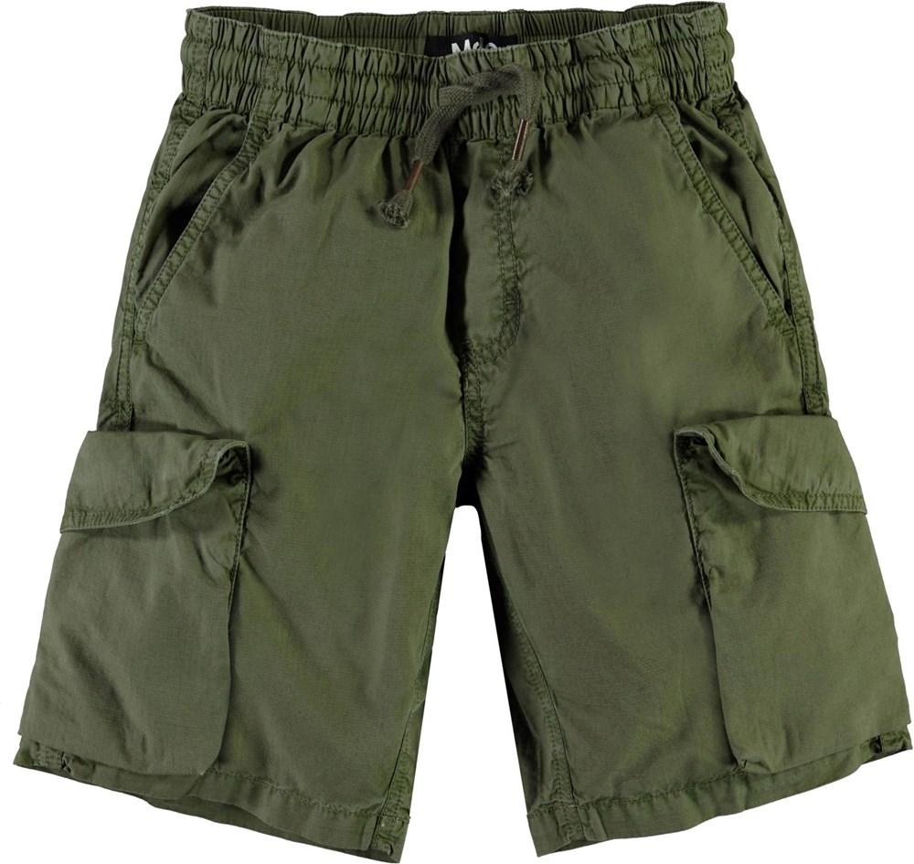 Argod - Vegetation - Army green cargo shorts
