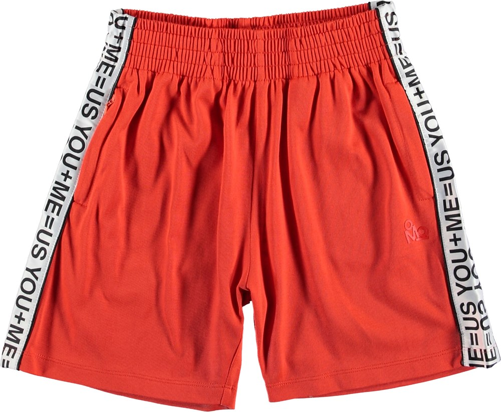 Arinos - Cherry Tomato - Red shorts with white stripes.