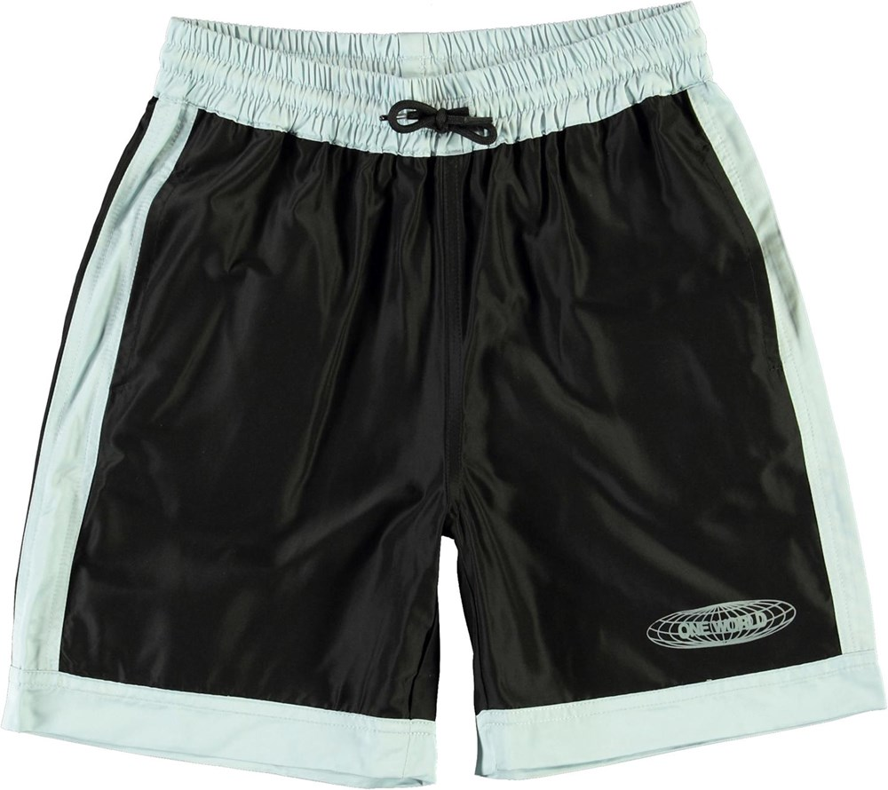 Arnold - Black - Sporty blue and black shorts