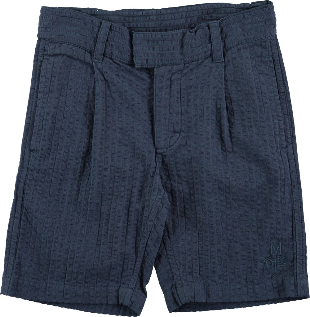 Arto - Infinity - Blue shorts with structured surface