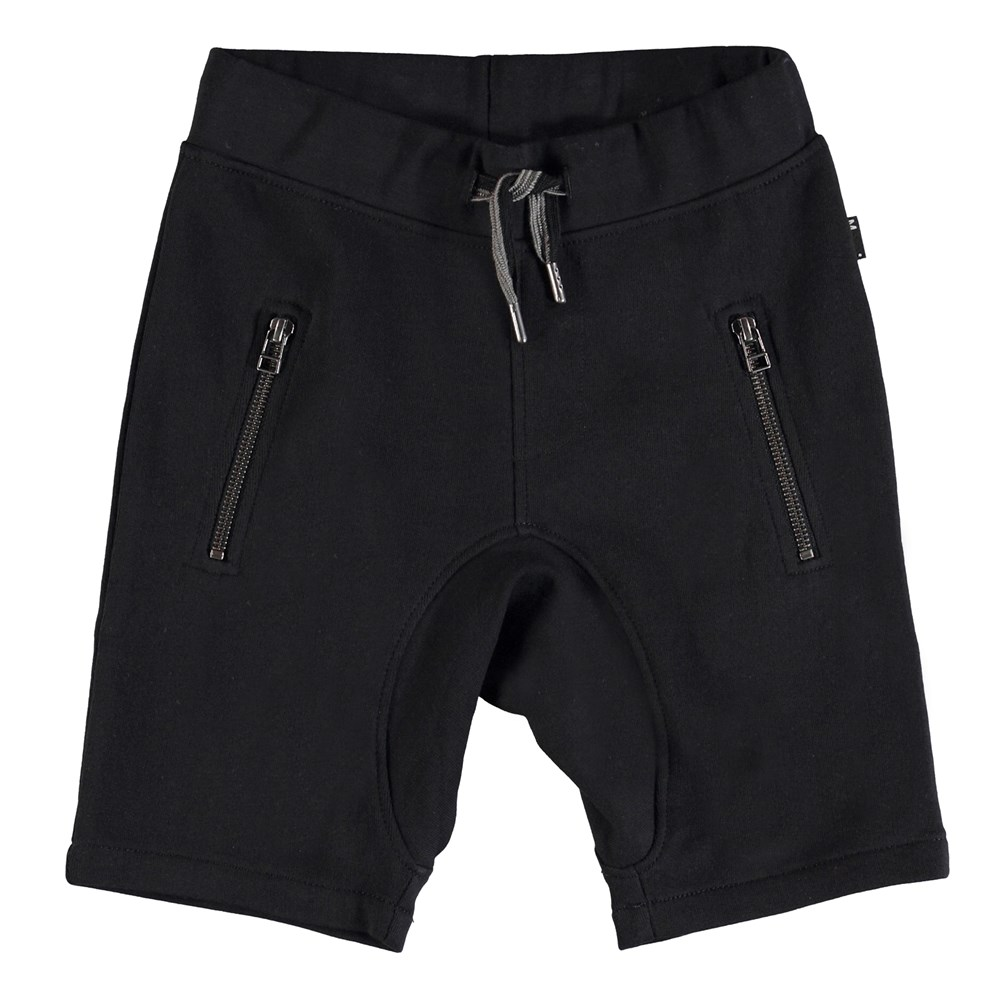 Ashtonshort - Black - Black sweatshorts.